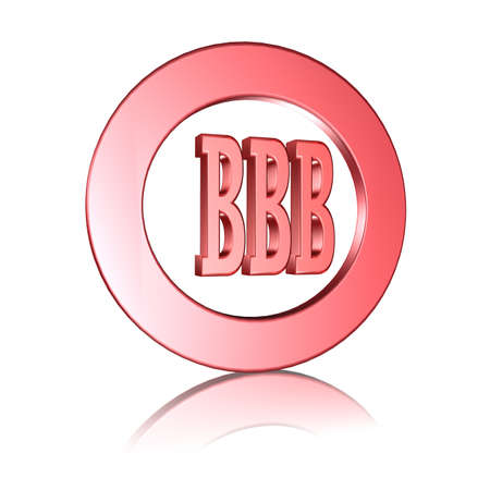 3D Illustration, 3D Rendering: rating or rating code for assessing the creditworthiness of a debtor; Code BBB