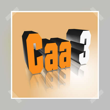 3D Illustration, 3D Rendering: rating or rating code for assessing the creditworthiness of a debtor; Code Caa3