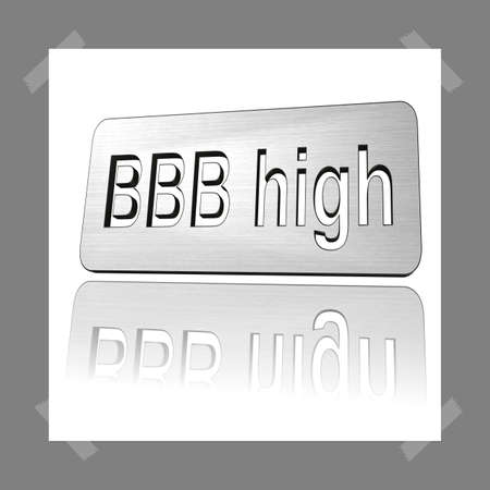 3D Illustration, 3D Rendering: rating or rating code for assessing the creditworthiness of a debtor; Code BBBhigh