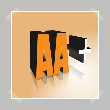 3D Illustration, 3D Rendering: rating or rating code for assessing the creditworthiness of a debtor; Code AA+ Stock Photo