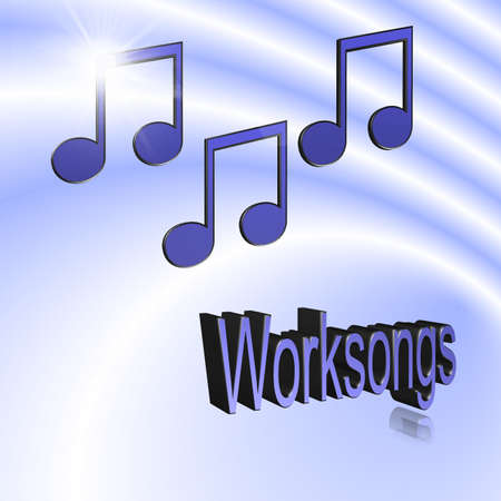 Worksong - 3D illustration, 3D Rendering: symbol image for music, entertainment and culture Stockfoto