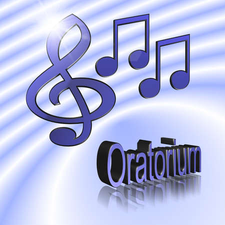 Oratorio Music - 3D illustration, 3D Rendering: symbol image for music, entertainment and culture Stockfoto