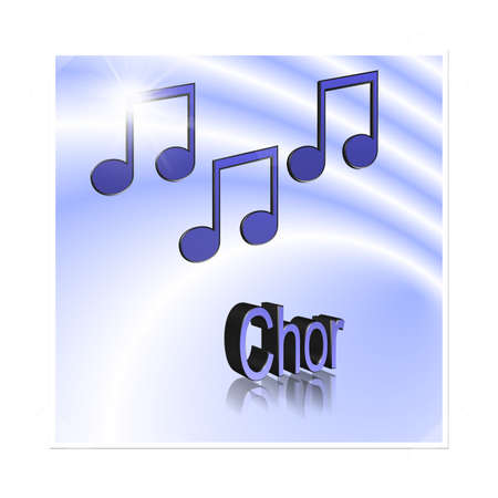 Choir Music - 3D illustration, 3D Rendering: symbol image for music, entertainment and culture Stockfoto