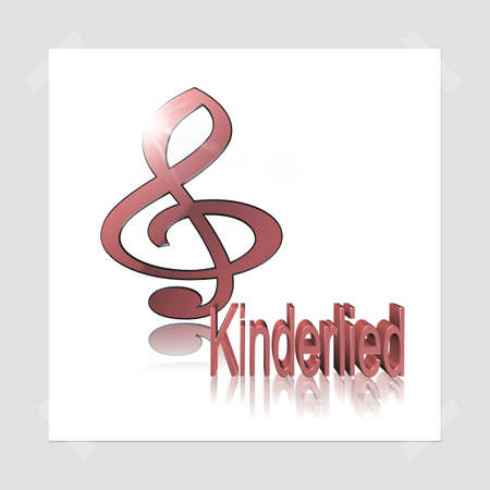 Childrens Song - 3D illustration, 3D Rendering: symbol image for music, entertainment and culture Stockfoto