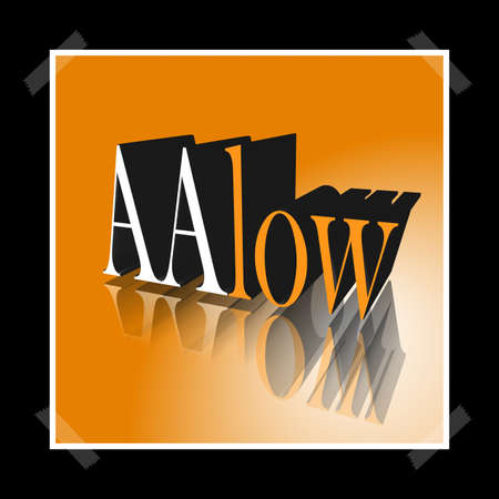 3D Illustration, 3D Rendering: rating or rating code for assessing the creditworthiness of a debtor; Code AAlow