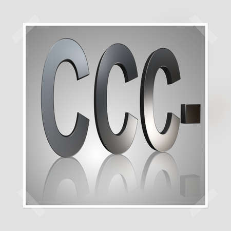 3D Illustration, 3D Rendering: rating or rating code for assessing the creditworthiness of a debtor; Code CCC-