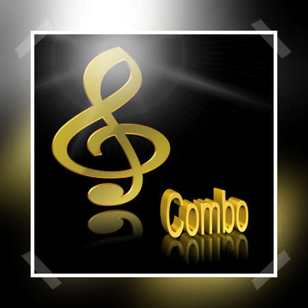 Combo Music - 3D illustration, 3D Rendering: symbol image for music, entertainment and culture 스톡 콘텐츠
