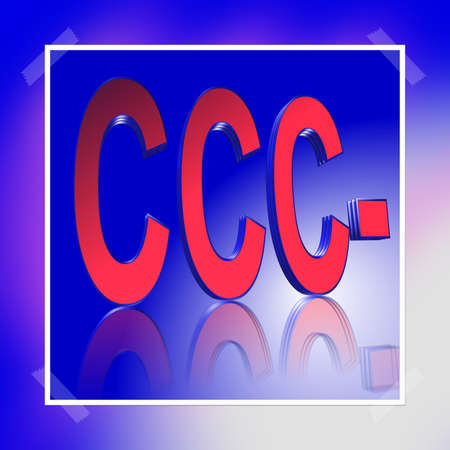 3D Illustration, 3D Rendering: rating or rating code for assessing the creditworthiness of a debtor; Code CCC- Stock Illustration - 127684351