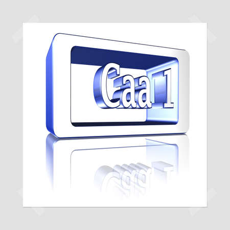 3D Illustration, 3D Rendering: rating or rating code for assessing the creditworthiness of a debtor. Code Caa1