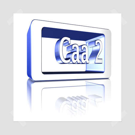 3D Illustration, 3D Rendering: rating or rating code for assessing the creditworthiness of a debtor; Code Caa2 Stock Photo