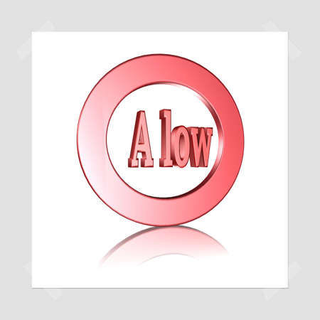 3D Illustration, 3D Rendering: rating or rating code for assessing the creditworthiness of a debtor. Code Alow