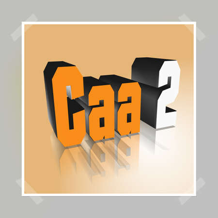 3D Illustration, 3D Rendering: rating or rating code for assessing the creditworthiness of a debtor. Code Caa2