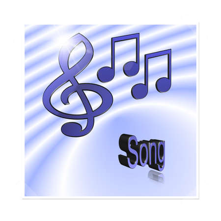 Song Music - 3D illustration, 3D Rendering: symbol image for music, entertainment and culture