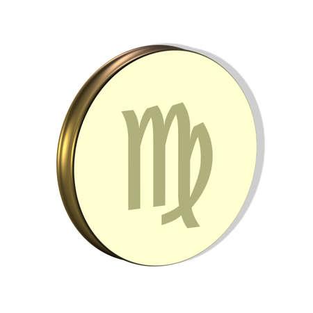 3D Illustration, 3D Rendering: Symbolic image of the zodiac sign Virgo