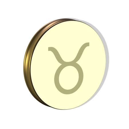 3D Illustration, 3D Rendering: Symbolic image of the zodiac sign Taurus