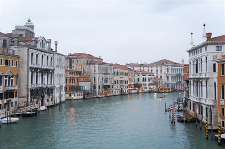 grand canal: Grand Canal in Venice Italy Stock Photo