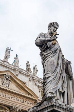 Statue of St. Peter in front of Saint Peters Basilica, Vatican