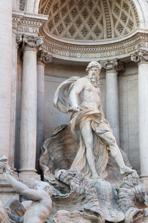 immense: Ocean ,the main statue of the Trevi fountain. The personification of a immense river that flows around the earth and from which all strams of water derive.