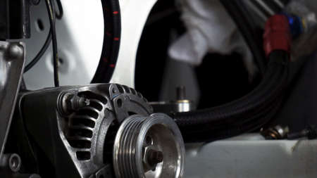 Closeup of a car alternator, component of car electrical system Reklamní fotografie