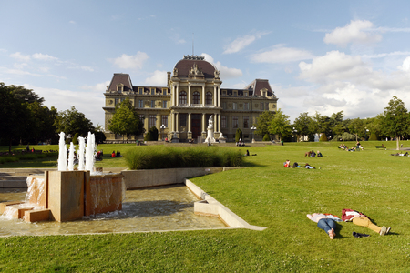 Lausanne, Switzerland - June 05, 2017: Palace of Justice, District Court of Lausanne.