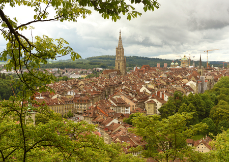 Cityscape of Bern the capital of Switzerland, Stock Photo