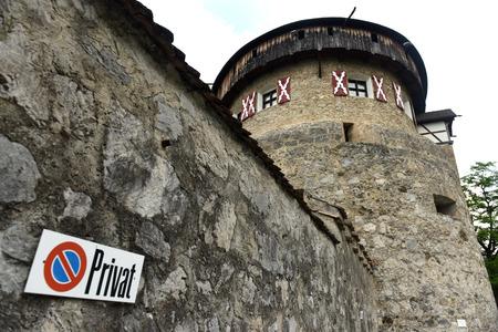 Gutenberg Castle in Vaduz, Liechtenstein. This castle is the palace and official residence of the Prince of Liechtenstein