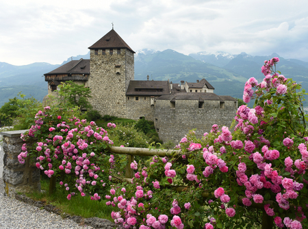 Medieval castle in Vaduz, Liechtenstein. Gutenberg Castle is the palace and official residence of the Prince of Liechtenstein.