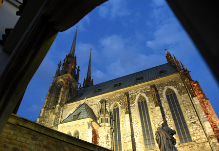 Cathedral of St. Peter and Paul in Brno, Czech Republic