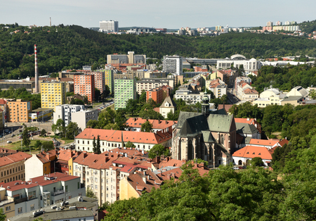Brno cityscape with Basilica of the Assumption of Our Lady, Brno, Czech Republic.