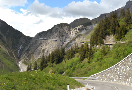 Road in Austrian mountains, Austria