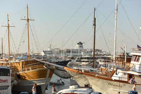 Split, Croatia - August 19, 2017: Port of Split, Croatia.