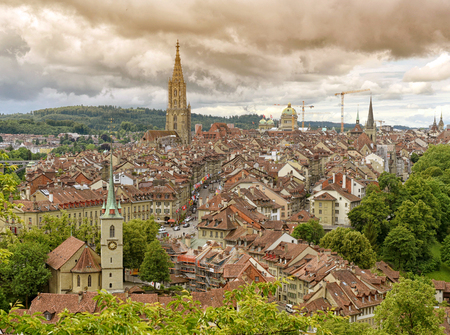Panorama of Bern old town the capital of Switzerland,