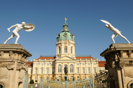 Schloss Charlottenburg (Charlottenburg Palace). It is the largest palace and the only surviving royal residence in the city Berlin, Germany Редакционное