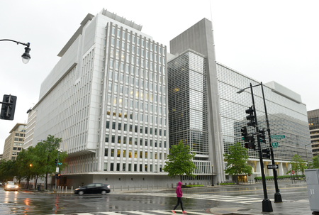 Washington, DC - June 04, 2018: The World Bank main Building in Washington.
