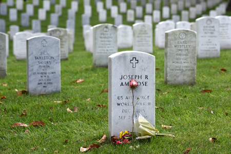 Washington, DC - June 01, 2018: Arlington National Cemetery. Editorial