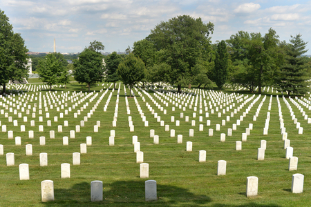 Washington, DC - June 01, 2018: Arlington National Cemetery. Editorial