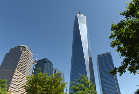New York, USA - May 24, 2018: One World Trade Center in New York. Editorial