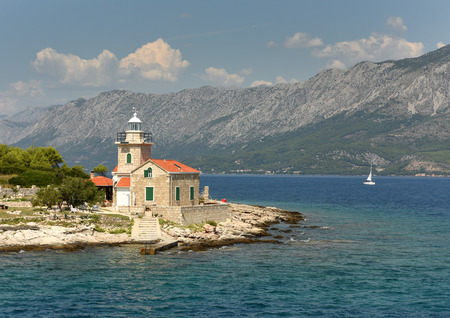 Sucuraj Lighthouse on island Hvar, Croatia Reklamní fotografie