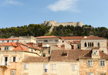 Spanish Fortress in Hvar town on island of Hvar, Croatia