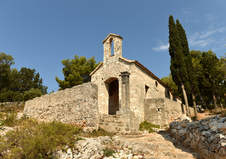 Church of Our Lady of Kruvenica in Hvar town on island of Hvar, Croatia