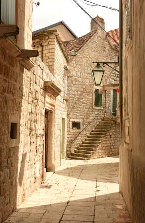 Town Jelsa on island of Hvar, Croatia 版權商用圖片