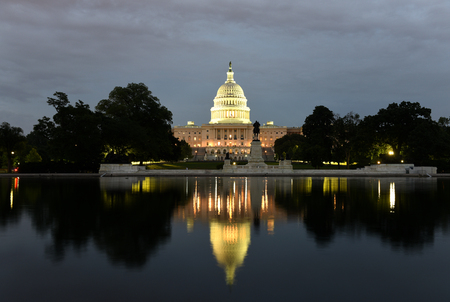 United States Capitol Building at night,  Washington, DC