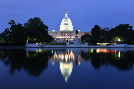 United States Capitol Building at night,  Washington, DC