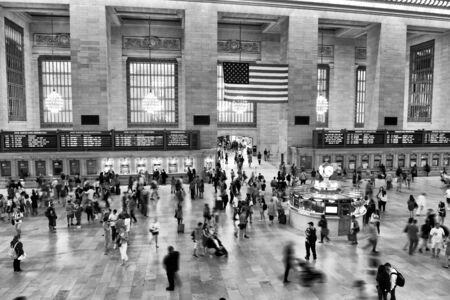 New York, USA - May 26, 2018: People in Main hall Grand Central Terminal, New York.