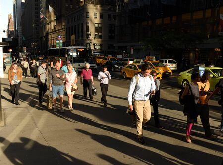New York, USA - May 30, 2018: People go on the street of Manhattan in New York. Sajtókép