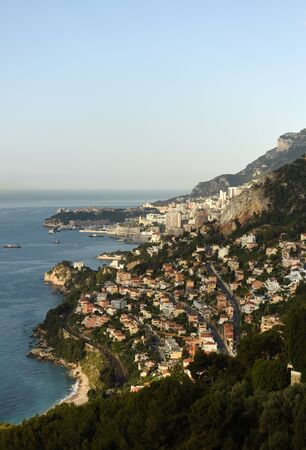 Monaco and Roquebrune-Cap-Martin, Cote d'Azur of French Riviera.