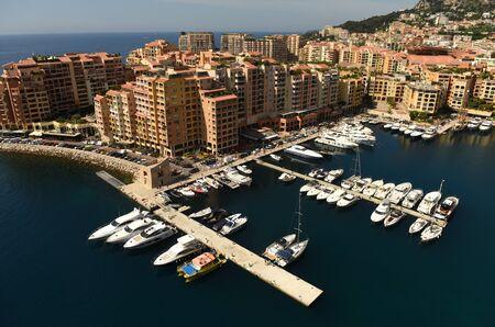 Cityscape of Monaco. Fontvieille and Monaco Harbor