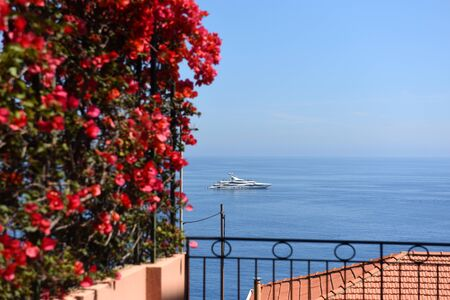 Beautiful view on the sea and boats. Mediterranean Sea. Travel concept