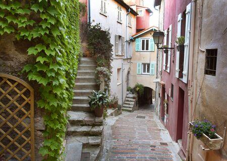 Medieval village in Roquebrune-Cap-Martin, Provence-Alpes-Cote dAzur, France. Cote dAzur of French Riviera.