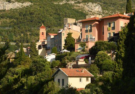 Roquebrune-Cap-Martin, Provence-Alpes-Cote dAzur, France. Cote dAzur of French Riviera.